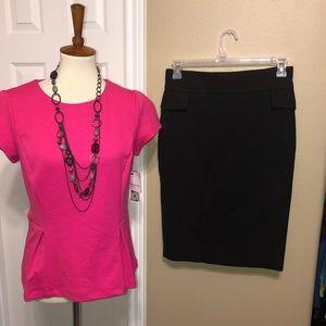New Zara Skirt & Claiborne peplum top  medium 💖